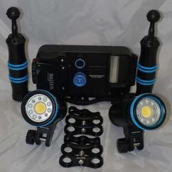 Set Pouzdro Weefine PRO pro Smart Phone + základna + 2 světla